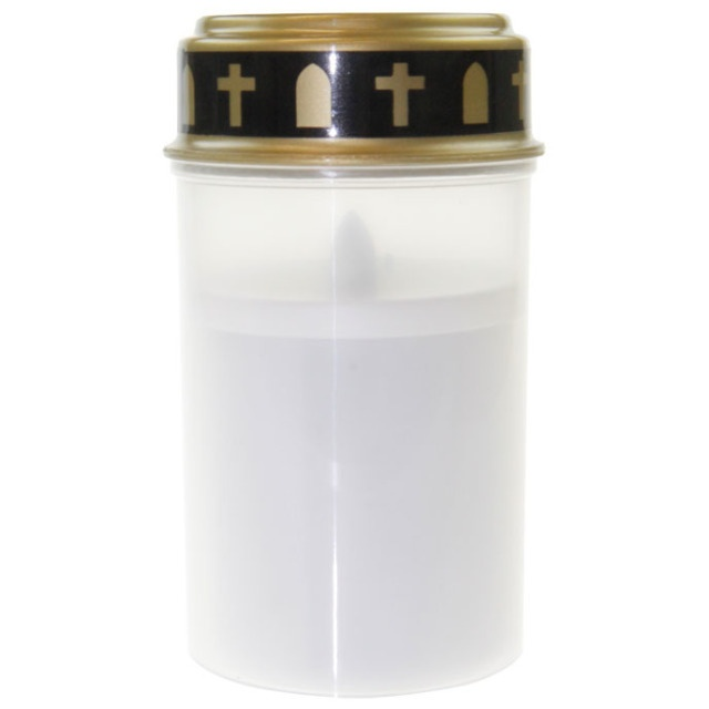 Grab- Licht  /  Kerze  LED weiss