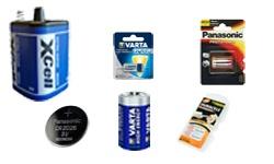 Batterien + Knopfzellen